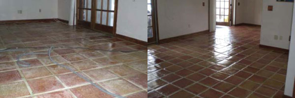 before after kitchen floor coating