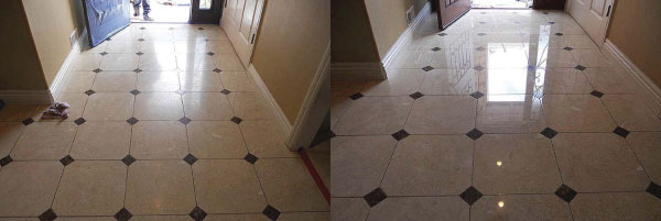 before after stone floor