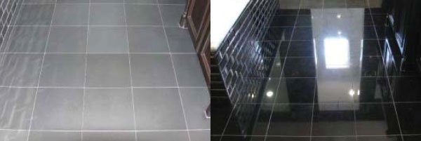 before after stone flooring