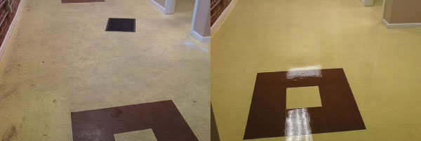 before after vct flooring coating