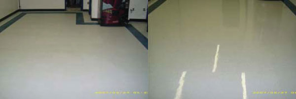 before after vct floor